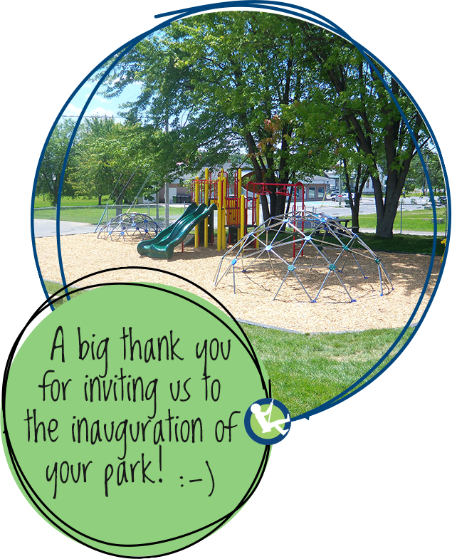 A big thank you for inviting us to the inauguration of your park! :-)